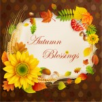 Autumn blessings wreath