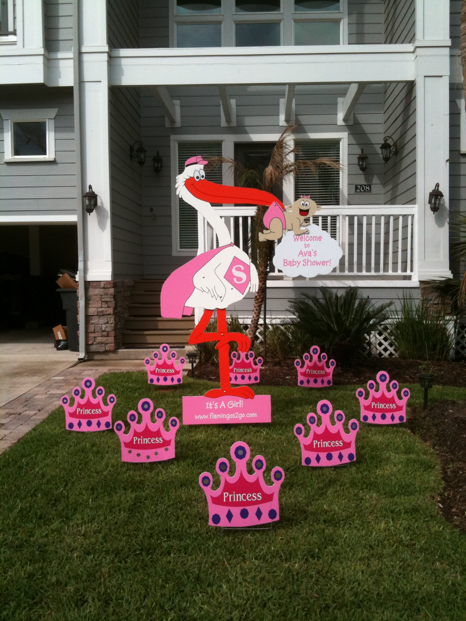 Charmant Baby Shower Stork Yard Signs!!