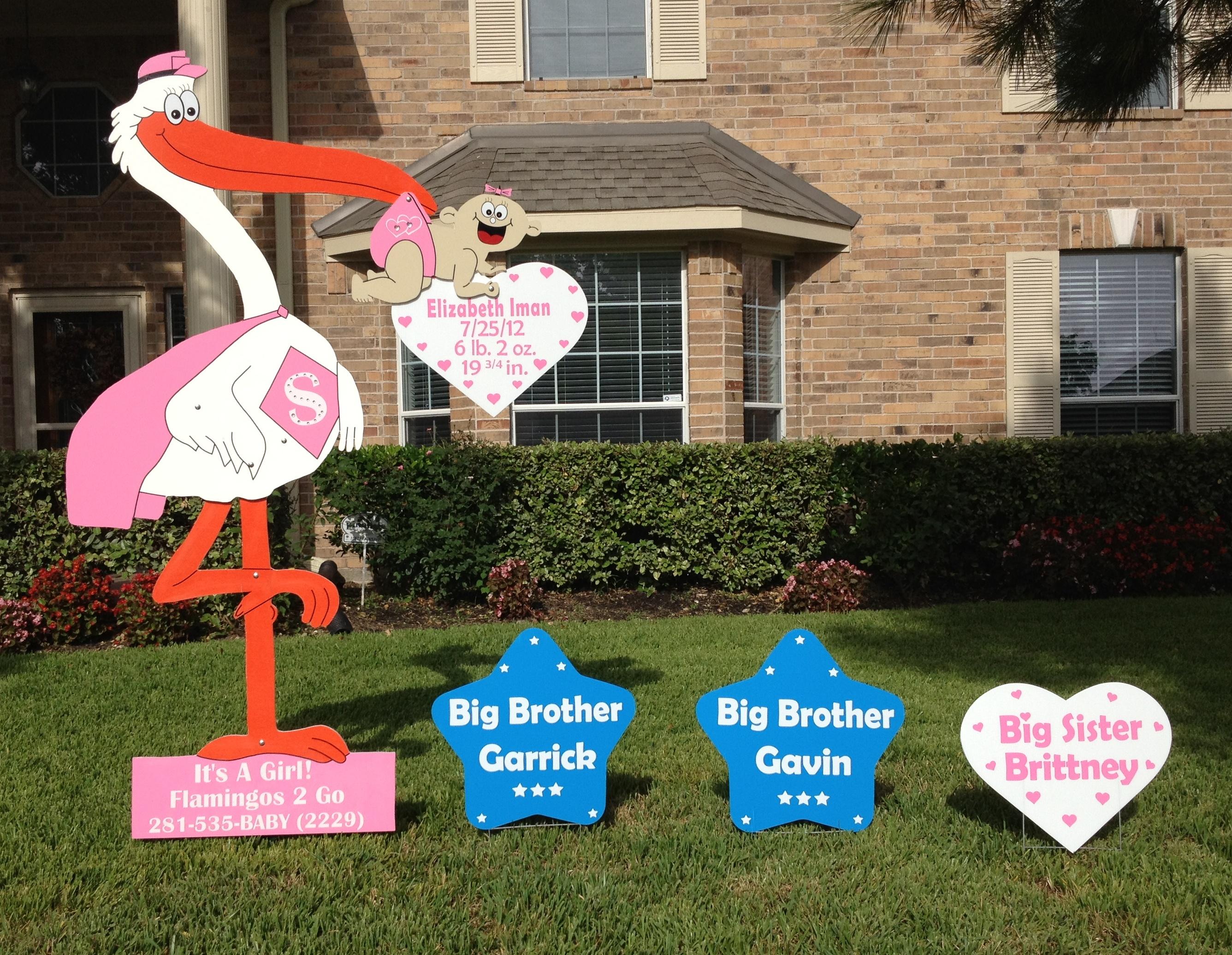 stork yard signs | flamingos 2 go