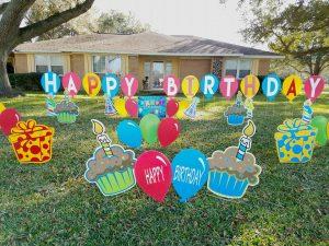 bright happy birthday balloons