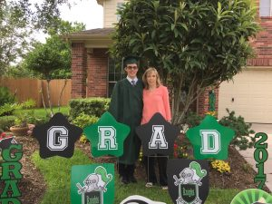 graduation decorations green black