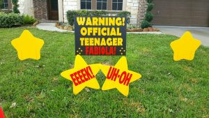 13th birthday personalized sign